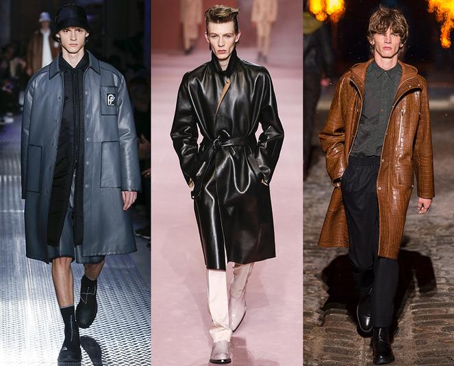 Giacche e cappotti in pelle moda uomo inverno 2019
