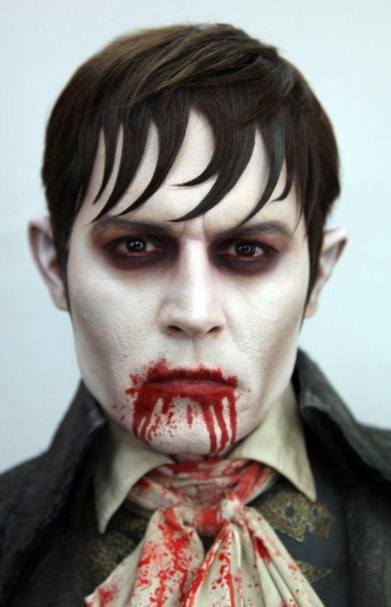 Idea trucco halloween uomo alla Johnny Depp in Dark Shadows