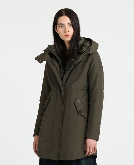 Long Military Parka donna Woolrich inverno 2018 2019 prezzo 580 euro - Woolrich Parka Donne Inverno 2019