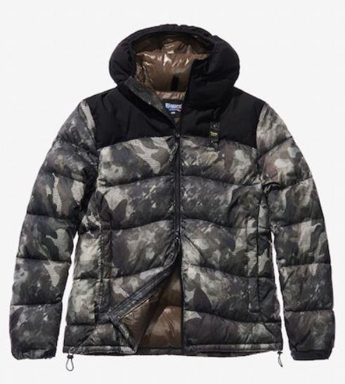 Piumino Blauer fantasia camouflage inverno 2018 2019 mod Nicolo prezzo 427 euro