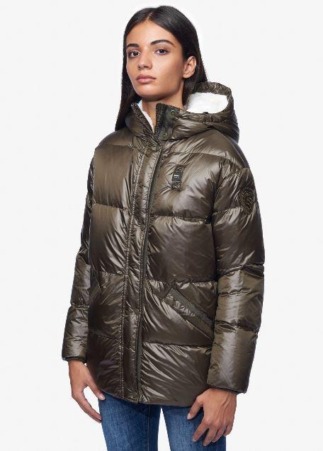 Piumino con interno in pelliccia ecologica Blauer inverno 2018 2019 modello Carlotta prezzo 579 euro