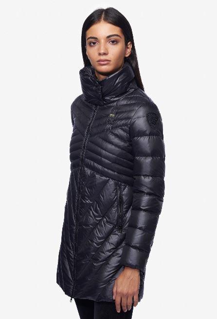 Piumino lungo Blauer donna modello Bianca inverno 2018 2019 prezzo 488 euro