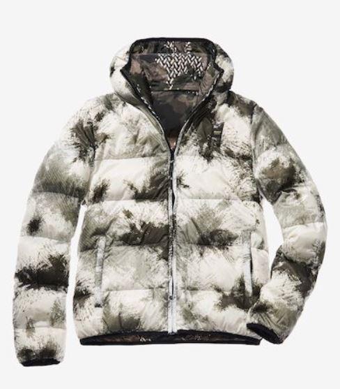 Piumino reversibile Blauer fantasia camouflage modello Marco prezzo 427 inverno 2019