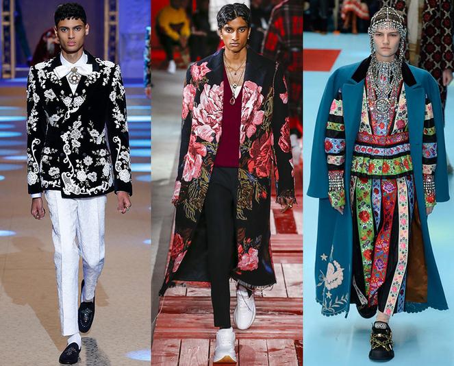 Stampe floreali moda abbigliamento uomo inverno 2018 2019