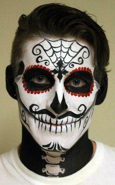 Trucco uomo Halloween da Teschio Messicano