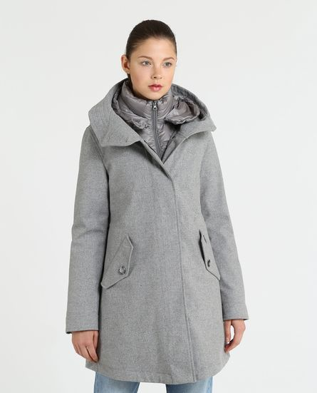Woolrich donna modello Wool Long military Parka inverno 2019 prezzo 950 euro - Woolrich Parka Donne Inverno 2019