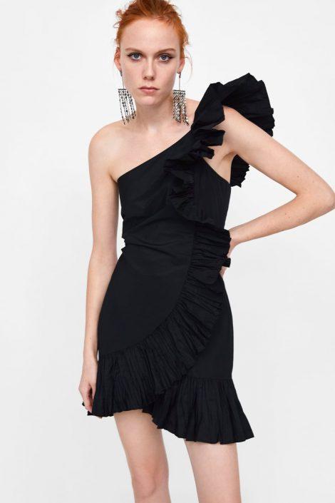 Abito da sera monospalla Zara inverno e Capodanno 2018 2019 470x705 - ZARA Abiti eleganti da sera e Capodanno 2018 2019