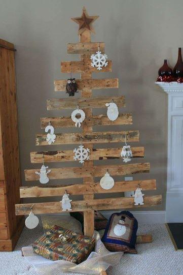 Albero di Natale 2018 ecologico ed economico con bancale di legno - Albero di Natale 2018: Colori e Tendenze