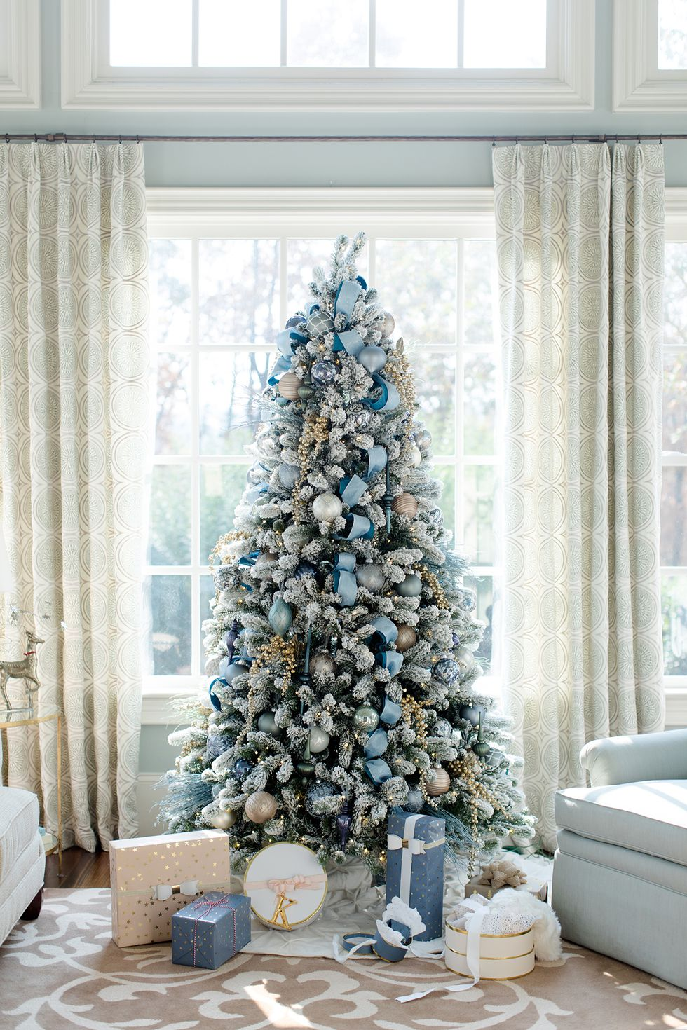 Albero di Natale 2018 nei toni dellazzurro