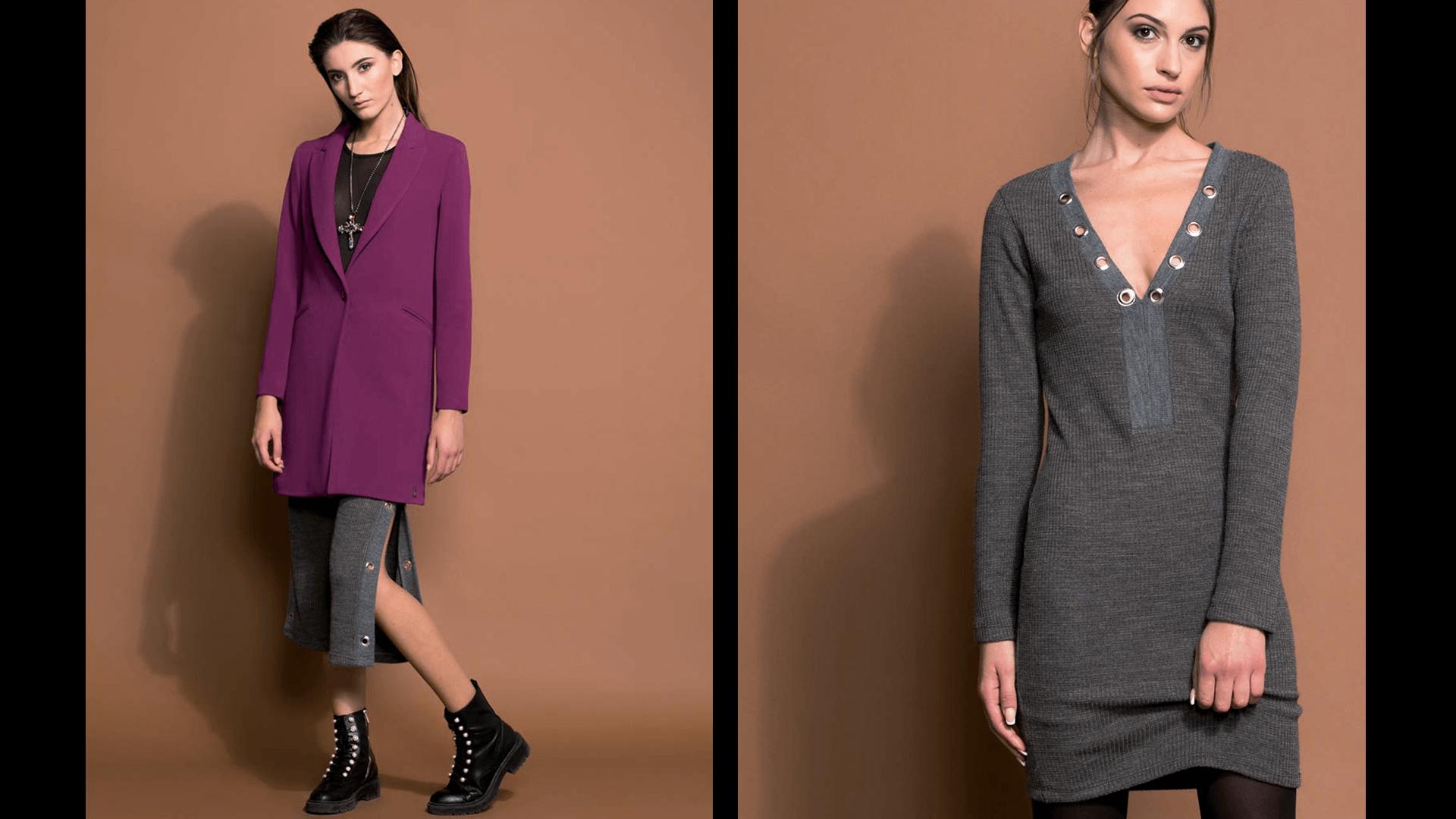 Cappotto e abito in maglia Coconuda inverno 2018 2019