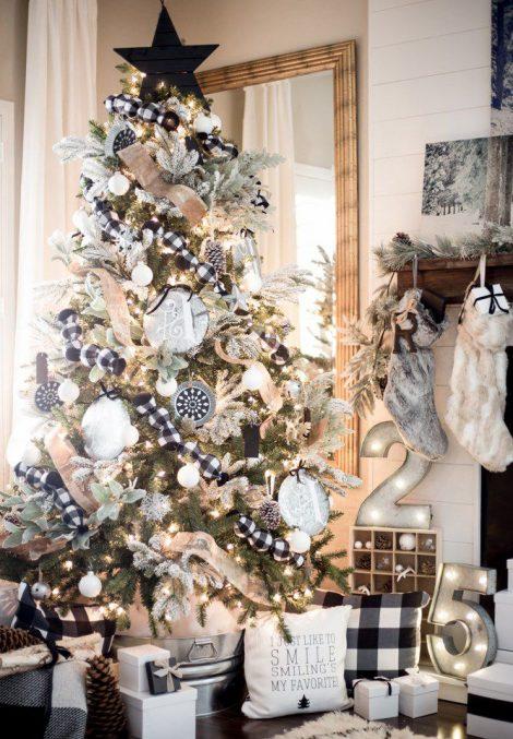 Idea Albero di Natale 2018 stile country 470x677 - Albero di Natale 2018: Colori e Tendenze