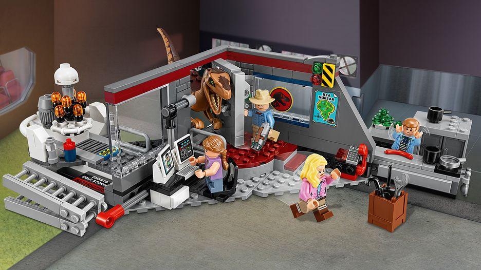 Lego Jurassic Wolrd 2018 Inseguimento Velociraptor a Jurassic Park cod 75932