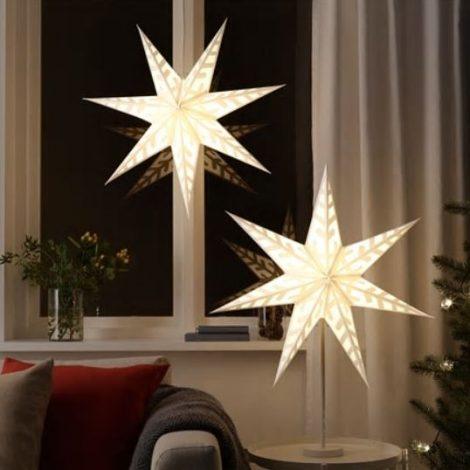 Paralumi natalizi a forma di stelle Ikea 470x470 - IKEA Catalogo Natale 2018
