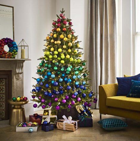 Tendenza Albero di Natale 2018 Arcobaleno 470x472 - Albero di Natale 2018: Colori e Tendenze