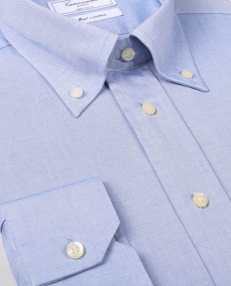 Camicia con collo button down lungo 470x583 - Scelta del colletto per la camicia da uomo