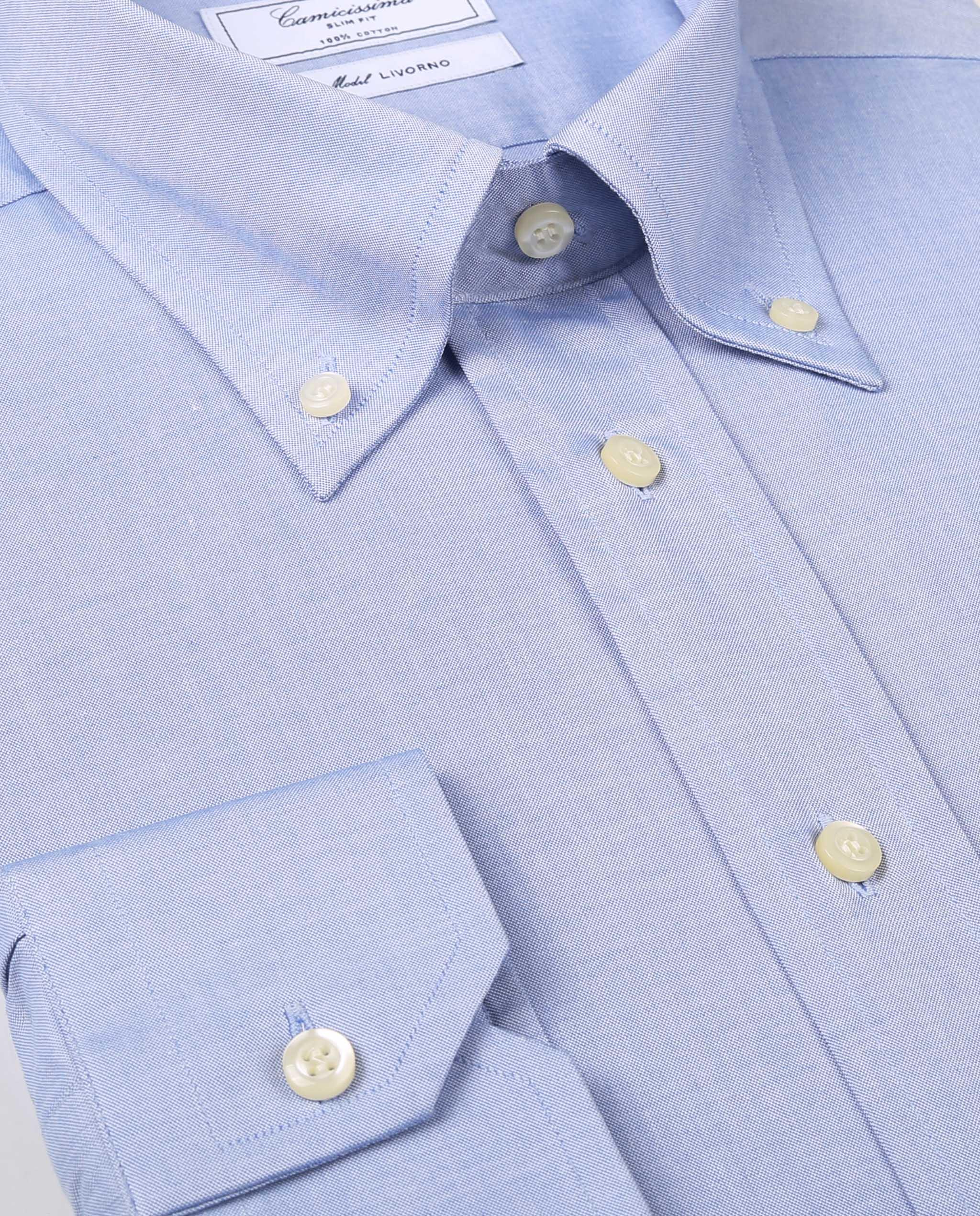 Camicia con collo button down lungo