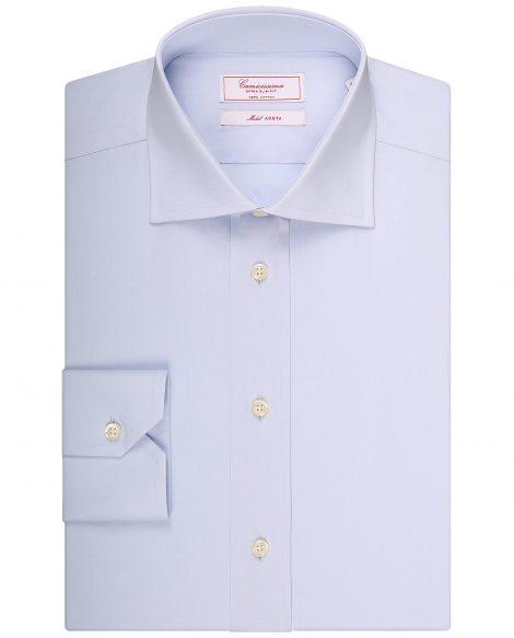 Camicia con collo semifrancese 470x583 - Scelta del colletto per la camicia da uomo