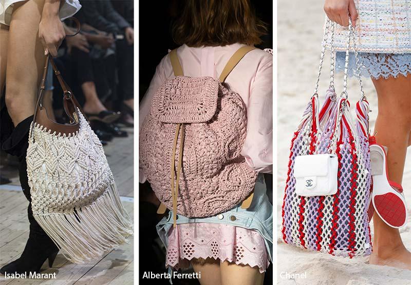 Borse ad uncinetto moda primavera estate 2019