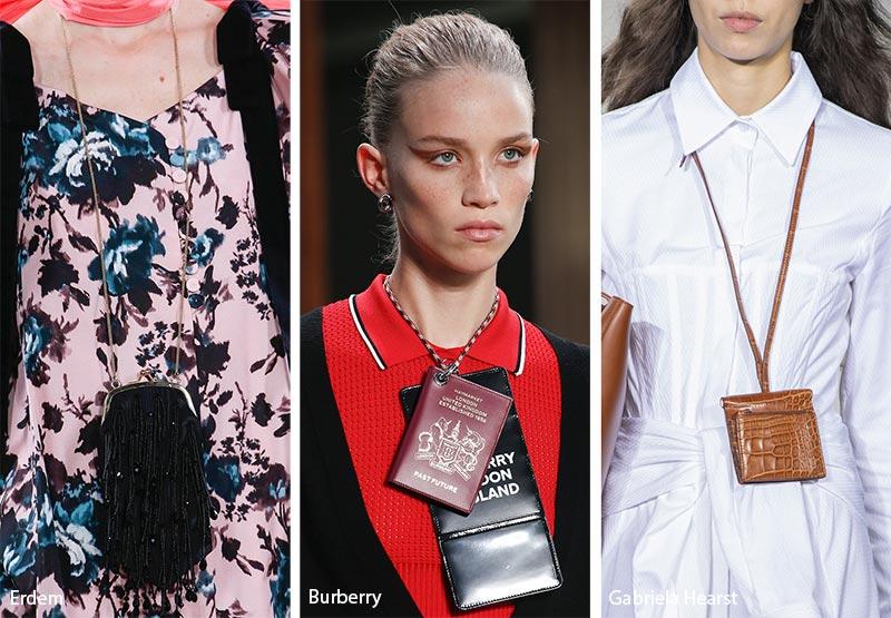 Borse da portare al collo come collane moda borse primavera estate 2019