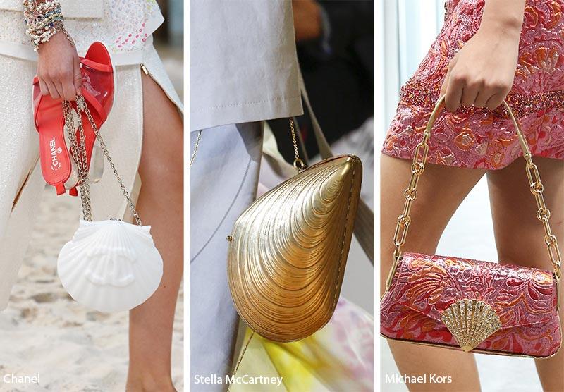 Borse dalle forme a conchiglia moda primavera estate 2019