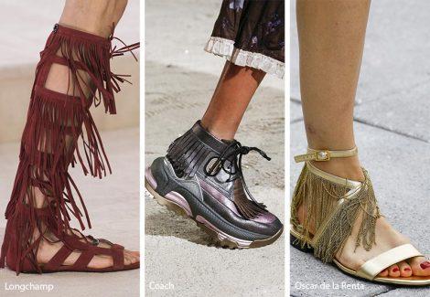 Calzature con frange moda primavera estate 2019 470x325 - 21 Tendenze Scarpe e Sandali primavera estate 2019