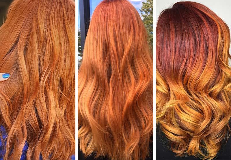 Capelli rossi ginger dorati