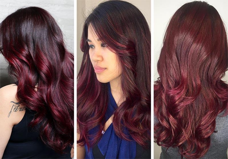 Capelli rosso burgundy