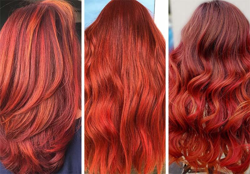 Capelli rosso rame cremisi