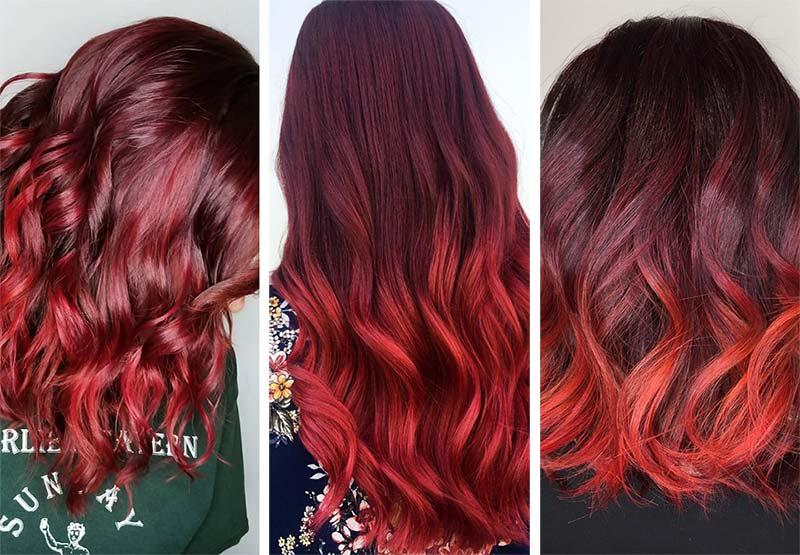 Colore Dark Cherry Red Hair Colore Dark Cherry Red Hair - Capelli Rossi tutte le tonalità Colore Dark Cherry Red Hair - Capelli Rossi tutte le tonalità