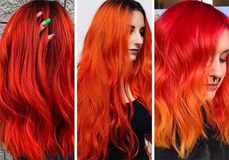 Colore capelli arancio electric Colore capelli arancio electric - Capelli Rossi tutte le tonalità Colore capelli arancio electric - Capelli Rossi tutte le tonalità