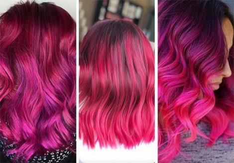 Colore capelli rosso magenta 470x327 - Capelli Rossi tutte le tonalità