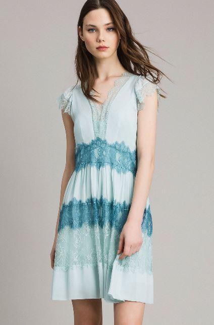 Elegante abito corto Twin Set estate 2019 prezzo 250 euro - Collezione Twin Set primavera estate 2019: Abiti corti