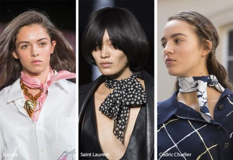 Foulard da legare al collo stile anni 50 470x324 - 20 Tendenze Gioielli e Accessori Primavera Estate 2019