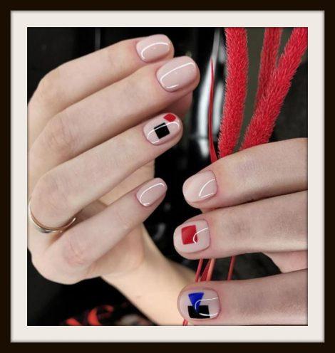 Nail Art Decorazione Unghie corte 20 Immagini Nail Art Decorazione Unghie corte 20 Immagini 470x496 - 20 Immagini Nail Art Unghie Corte