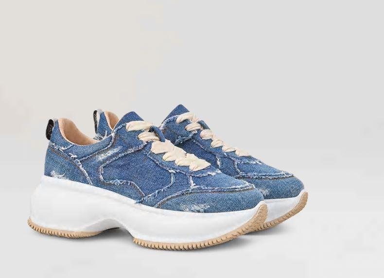 Nuove scarpe donna Hogan Maxi I Active primavera estate 2019 prezzo 390 euro in denim