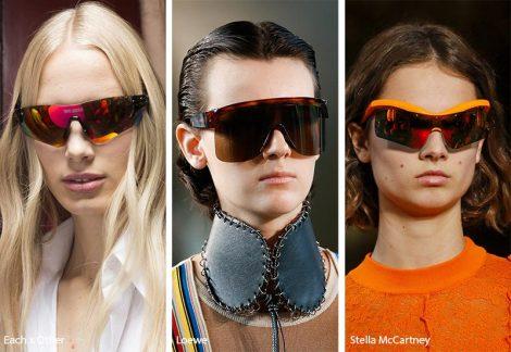 Occhiali da sole a mascherina stile sportivo 470x324 - 15 Tendenze Moda Occhiali da sole Donna 2019
