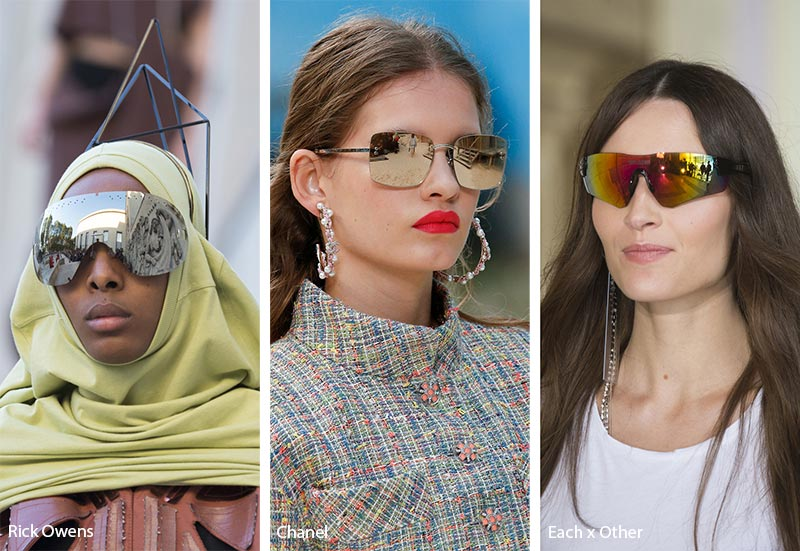 15 tendenze moda occhiali da sole donna 2019 the house of blog - Occhiali con lenti a specchio colorate ...