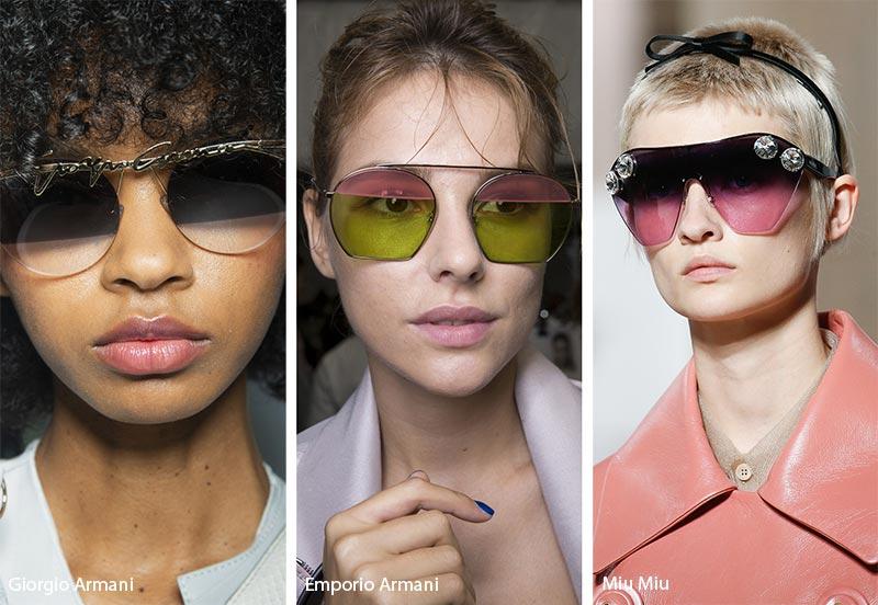 Occhiali da sole con lenti bicolore moda 2019