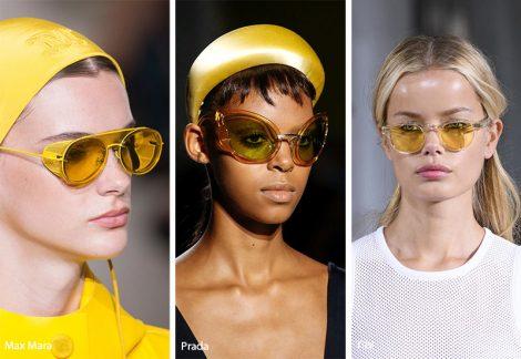 Occhiali da sole con lenti gialle moda 2019 470x324 - 15 Tendenze Moda Occhiali da sole Donna 2019