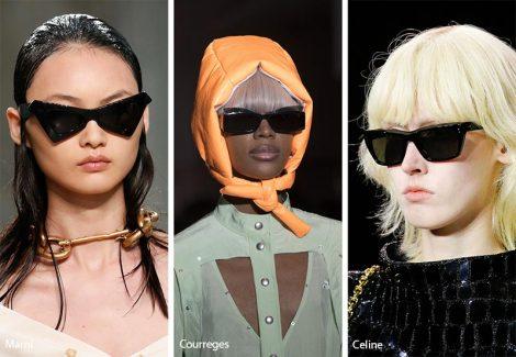 Occhiali da sole con lenti nere moda 2019 470x325 - 15 Tendenze Moda Occhiali da sole Donna 2019