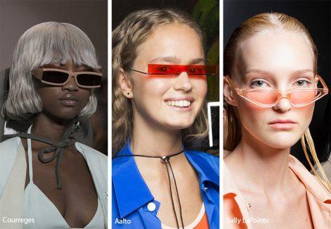 Occhiali da sole con lenti rettangolari sottili moda estate 2019 470x325 - 15 Tendenze Moda Occhiali da sole Donna 2019
