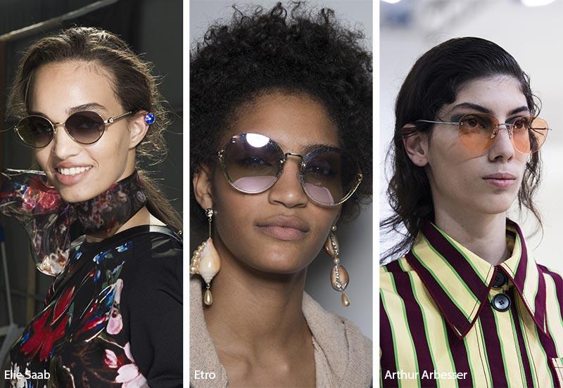 Occhiali da sole con lenti tonde moda estate 2019