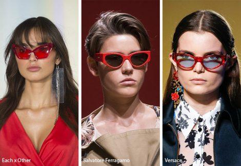 Occhiali da sole con montatura rossa moda primavera estate 2019 470x325 - 15 Tendenze Moda Occhiali da sole Donna 2019