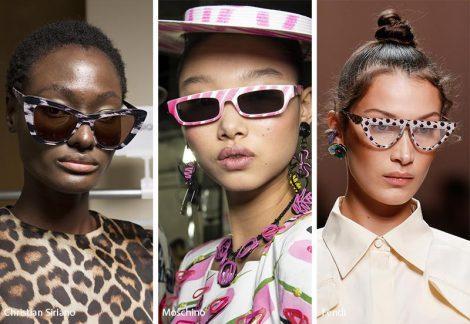Occhiali da sole con montatura stampatajpg 470x324 - 15 Tendenze Moda Occhiali da sole Donna 2019
