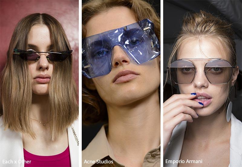 Occhiali da sole dalle forme innovative moda 2019