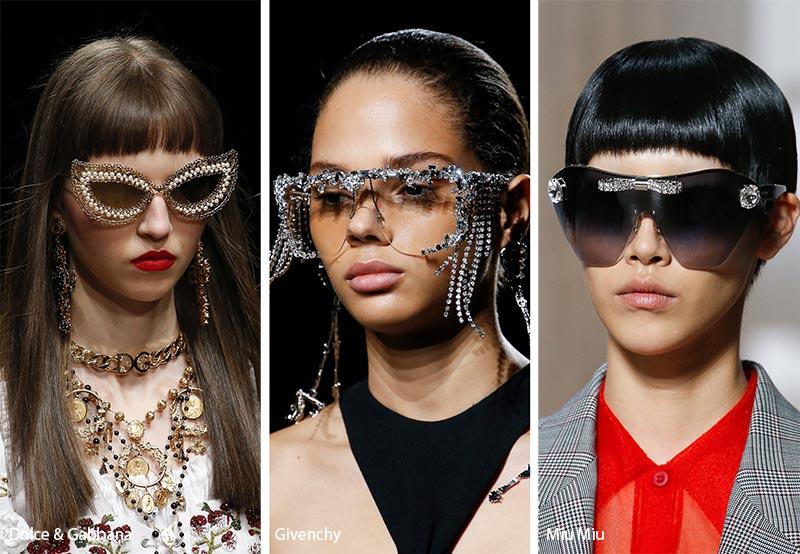 Occhiali da sole gioiello moda estate 2019