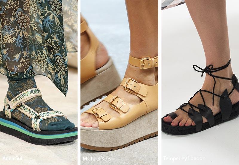 Sandali con platform moda primavera estate 2019