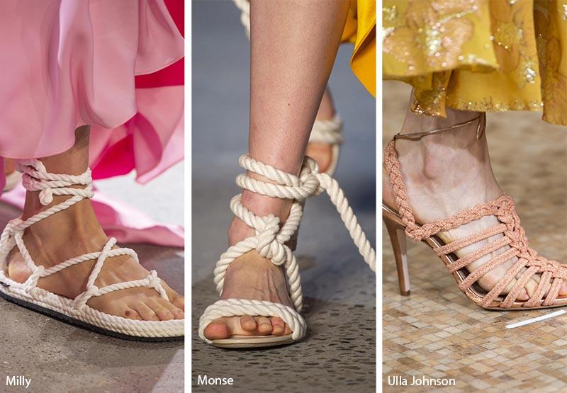 Sandali in corda moda estate 2019