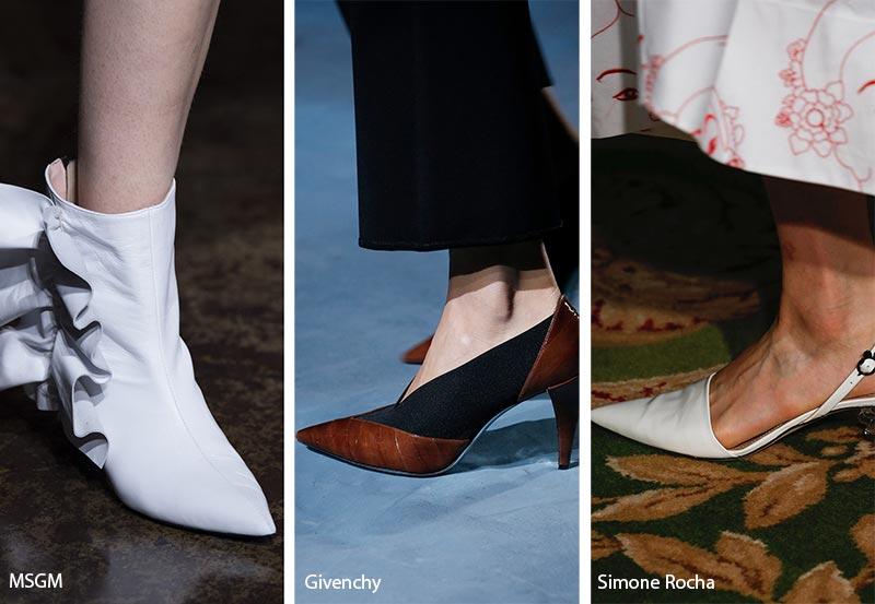 Scarpe a punta moda primavera estate 2019