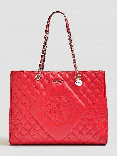 Shopping bag effetto trapuntato GUESS primavera estate 2019 prezzo 149 euro 470x627 - Guess Borse Primavera Estate 2019: Catalogo Prezzi